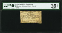 Canajohary, (NY)- Reformed Dutch Church of Upper Part of Canajohary February 4, 1793 1 Penny Newman Page 308 Harris H5 P...