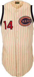 Baseball Collectibles:Uniforms, 1964 Pete Rose Game Worn Cincinnati Reds Jersey, MEARS A10--Photo Matched! ...
