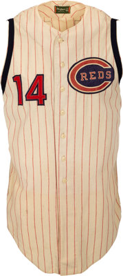 1964 Pete Rose Game Worn Cincinnati Reds Jersey, MEARS A10--Photo Matched!