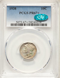 1938 10C PR67+ PCGS. CAC. PCGS Population: (229/20 and 23/2+). NGC Census: (254/40 and 9/0+). CDN: $350 Whsle. Bid for N...