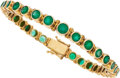 Estate Jewelry:Bracelets, Emerald, Gold Bracelet . ...