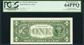 Third Printing on Back Error Fr. 1921-B $1 1995 Federal Reserve Note. PCGS Very Choice New 64PPQ