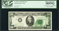 Error Notes:Offsets, Partial Back to Face Offset and Partial Face to Back Offset Errors Fr. 2067-J $20 1969 Federal Reserve Note. PCGS Choice About...