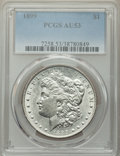 Morgan Dollars: , 1899 $1 AU53 PCGS. PCGS Population: (250/14635). NGC Census: (150/10333). CDN: $160 Whsle. Bid for NGC/PCGS AU53. Mintage 3...