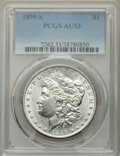 Morgan Dollars: , 1899-S $1 AU53 PCGS. PCGS Population: (156/4803). NGC Census: (130/2698). CDN: $155 Whsle. Bid for NGC/PCGS AU53. Mintage 2...