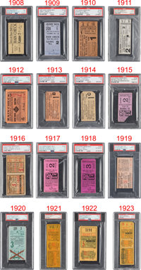 1908-2018 World Series Tickets Complete Run of 111--#2 Current Finest on PSA Set Registry