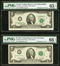 Error Notes:Shifted Third Printing, Shifted Third Printing Error Fr. 1935-C $2 1976 Federal Reserve Note. PMG Gem Uncirculated 65 EPQ;. Shifted Third Printing... (Total: 2 notes)