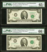 Shifted Third Printing Error Fr. 1935-C $2 1976 Federal Reserve Note. PMG Gem Uncirculated 65 EPQ; Shifted Thir... (Tota...