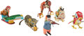 Antiques:Toys, Six Tin Windup Toys.... (Total: 6 Items)