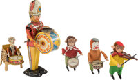 Lot of Five Windup Tin Toys.... (Total: 5 Items)