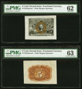 Fr. 1232SP 5¢ Second Issue Wide Margin Face PMG Uncirculated 62; Fr. 1232SP 5¢ Second Issue Wide Margin Back P...