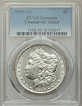 Morgan Dollars, 1890-CC $1 -- Cleaned -- PCGS Genuine. AU Details. Mintage 2,309,041....