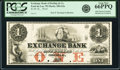 Obsoletes By State:Wisconsin, Fond du Lac, WI- Exchange Bank of Darling & Co. $1 18__ G2a Krause G2a Proof PCGS Gem New 66PPQ.. ...