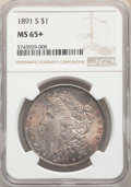 1891-S $1 MS65+ NGC. NGC Census: (223/26 and 2/3+). PCGS Population: (558/117 and 21/24+). CDN: $950 Whsle. Bid for NGC/...