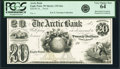 Obsoletes By State:Wisconsin, Eagle Point, WI- Arctic Bank $20 18__ G6a Krause G6a Proof PCGS Very Choice New 64.. ...