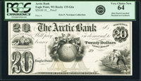 Eagle Point, WI- Arctic Bank $20 18__ G6a Krause G6a Proof PCGS Very Choice New 64