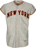 Baseball Collectibles:Uniforms, 1954-55 Davey Williams Game Worn New York Giants Uniform. ...