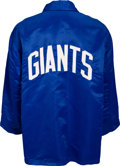 Football Collectibles:Others, 1965-67 New York Giants Game Worn Sideline Jacket Attributed to Earl Morrall. ...