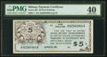 Military Payment Certificates:Series 461, Series 461 $5 PMG Extremely Fine 40.. ...
