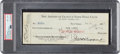 Baseball Collectibles:Others, 1927 Lou Gehrig Signed New York Yankees Payroll Check, PSA/DNA NM-MT 8....