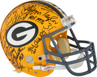1990's Green Bay Packers Super Bowl I Team Signed Helmet - Nearly Complete