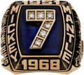 Baseball Collectibles:Others, 1980's Mickey Mantle Career Ring. ...