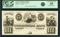 Obsoletes By State:New York, Albany, NY - Commercial Bank of Albany $3 18__ as G12 Proof PCGS Very Choice New 64 Apparent.. ...