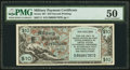 Military Payment Certificates:Series 481, Series 481 $10 Second Printing PMG About Uncirculated 50.. ...