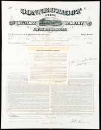 Three insurance Items Not Graded. Connecticut Fire Insurance Company of Hartford Policy $700 1897; Hartford Fire Ins...