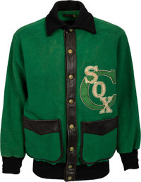 1935 Al Simmons Game Worn Chicago White Sox Warm-Up Jacket, MEARS Authentic