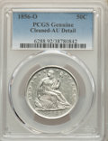 Seated Half Dollars, 1856-O 50C -- Cleaned -- PCGS Genuine. AU Details. Mintage 2,658,000....
