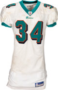 Football Collectibles:Uniforms, 2002 Ricky Williams Game Worn, Signed & Unwashed Miami Dolphins Jersey - Photo Matched to 2 TD Game vs. Lions (9/8)....