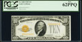 Fr. 2400 $10 1928 Gold Certificate. PCGS New 62PPQ