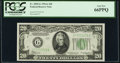 Fr. 2055-G $20 1934A Federal Reserve Note. PCGS Gem New 66PPQ