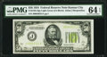 Small Size:Federal Reserve Notes, Fr. 2102-J $50 1934 Light Green Seal Federal Reserve Note. PMG Choice Uncirculated 64 EPQ.. ...
