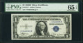 Small Size:Silver Certificates, Fr. 1611* $1 1935B Silver Certificate Star. PMG Gem Uncirculated 65 EPQ.. ...