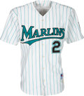 Baseball Collectibles:Uniforms, 1996 Florida Marlins Game Worn Jersey from The Devon White Collection. ...
