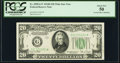 Fr. 2058-G* $20 1934D Wide Federal Reserve Star Note. PCGS About New 50