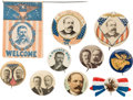 Political:Pinback Buttons (1896-present), Theodore Roosevelt and Alton B. Parker: Assorted Buttons....