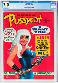 Pussycat #1 (Marvel, 1968) CGC FN/VF 7.0 Off-white pages