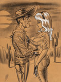 """Works on Paper, Bill Ward (American, 1919-1998). """"In words of one syllable, pardner - Nope!"""" Joker Digest interior illustration, March 1..."""