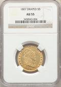 1807 $5 BUST RIGHT 55 NGC