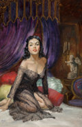 Paintings, Julian Paul (American, b. 1921). The Heavenly Sinner paperback cover, 1952. Oil on board. 20 x 13 inches (50.8 x 33.0 cm...