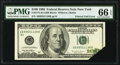 Printed Foldover Error Fr. 2175-B $100 1996 Federal Reserve Note. PMG Gem Uncirculated 66 EPQ