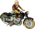 "Antiques:Toys, Arnold ""MAC 700"" Windup Tin Motorcycle and Rider...."
