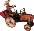 Antiques:Toys, Vintage 1930s Marx Tin Whoopee Car with Cowboy Driver. ...