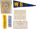 Political:Small Paper (1896-present), Woman's Suffrage: Group Of Suffrage Ribbons, Button, et al....