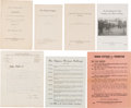Political:Small Paper (1896-present), Woman's Suffrage: Anti-Suffrage Letters And Pamphlets....