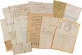 Political:Small Paper (pre-1896), Woman's Suffrage: Letters And Handouts....