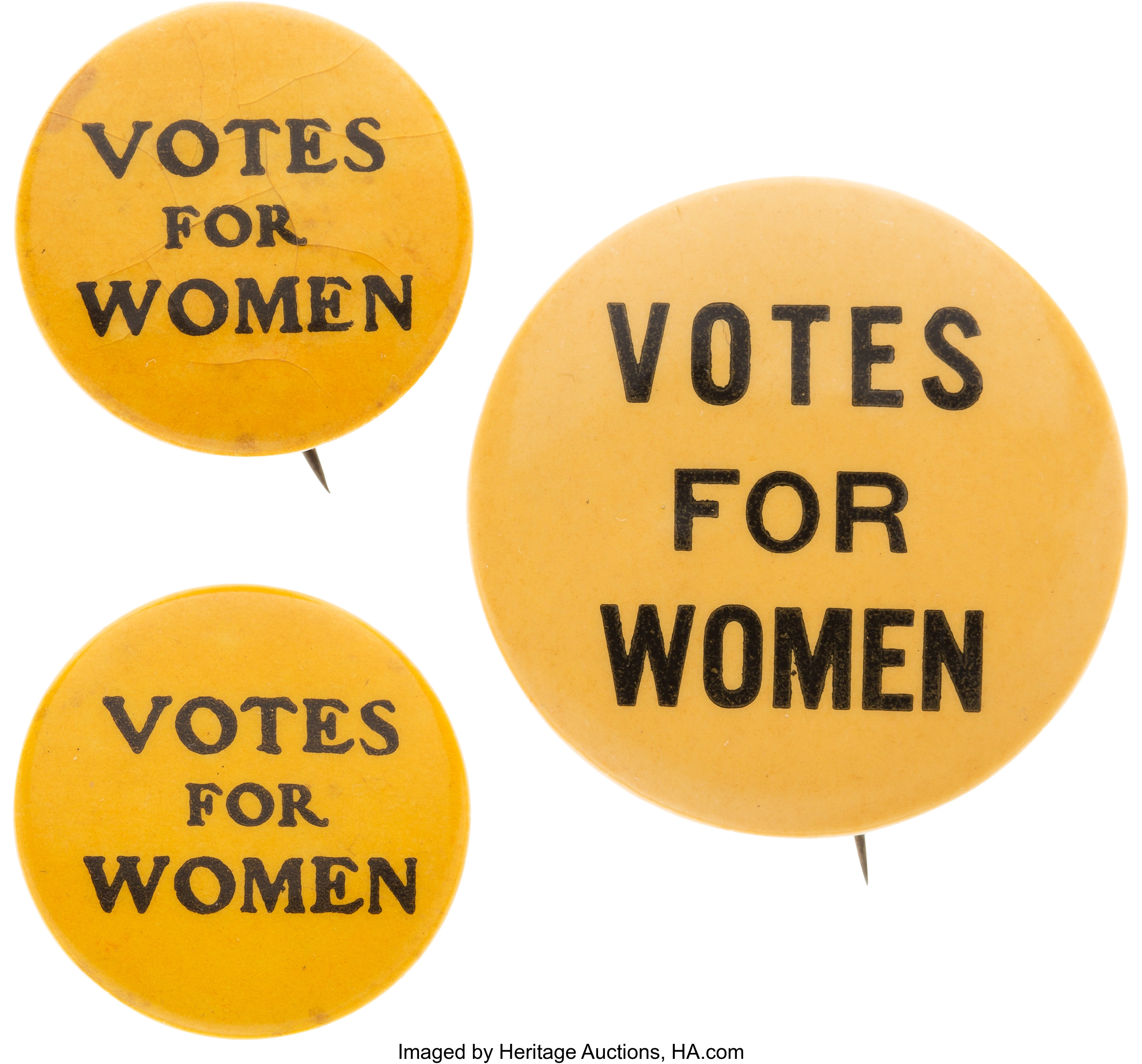Woman S Suffrage Group Of Three Uncommon Votes For Women Lot